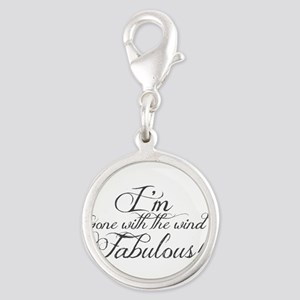 Gone with the wind fabulous Silver Round Charm