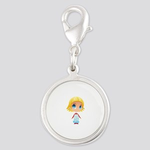 Little Blonde Girl Child Charms