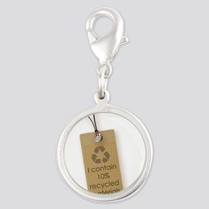 I contain 10% recycled materials (vertical) Charms