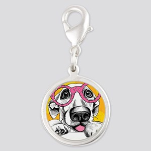Hipster Dog Charms