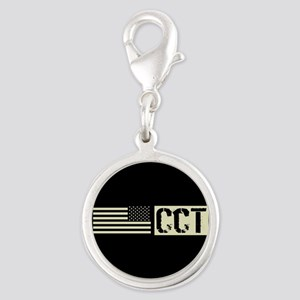 U.S. Air Force: Combat Control Silver Round Charm