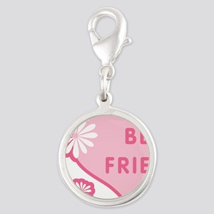 best-friends-pink-new_l Silver Round Charm