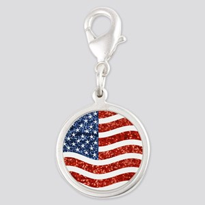 sequin american flag Charms