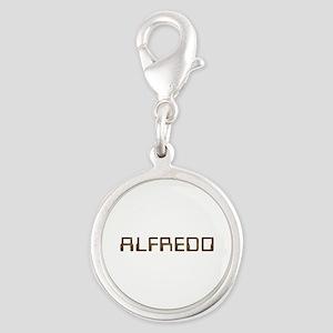Alfredo Circuit Silver Round Charm