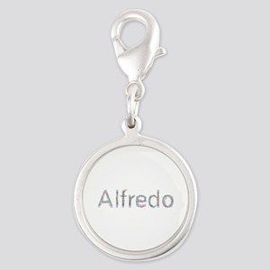 Alfredo Paperclips Silver Round Charm