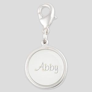 Abby Spark Silver Round Charm