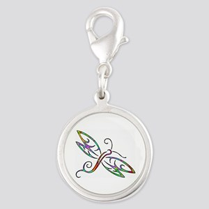 Colorful dragonfly Charms