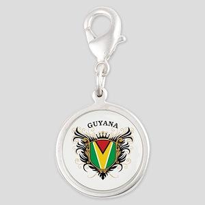 Guyana Silver Round Charm