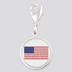 2nd Amendment Flag Silver Round Charm
