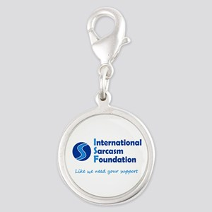 International Sarcasm Foundation Silver Round Char