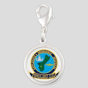 EOD Mobile Unit 5 Guam Silver Round Charm