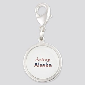 Custom Alaska Silver Round Charm
