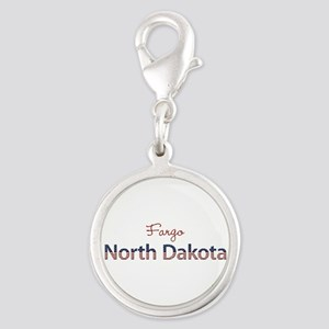 Custom North Dakota Silver Round Charm