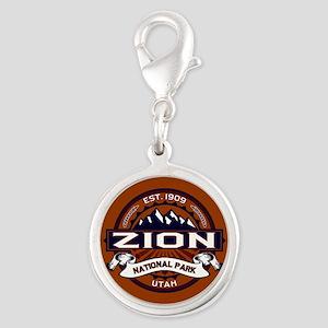 Zion Vibrant Silver Round Charm