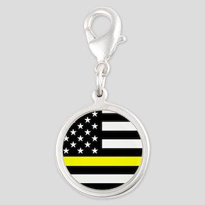 U.S. Flag: Black Flag & The Th Silver Round Charm