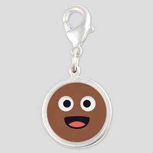 Poop Emoji Face Charms