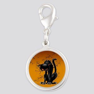 Black Cat Evil Angry Funny Character Charms