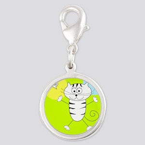 LIME GREEN PINK BLUE KITTY Charms