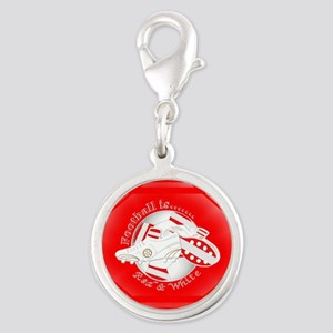 Red and White Football Soccer Charms