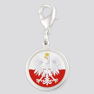 Poland Polska White Eagle Flag Charms