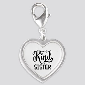 One Of A Kind Sister Silver Heart Charm