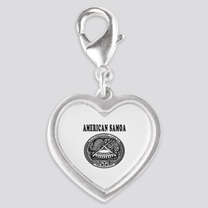 American Samoa Coat Of Arms Designs Silver Heart C