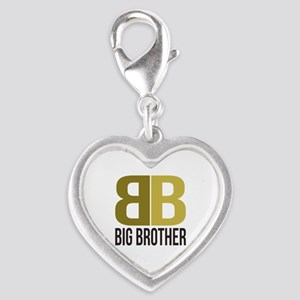 B&B for Big Brother Silver Heart Charm