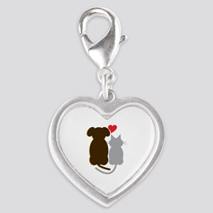 Dog Heart Cat Charms
