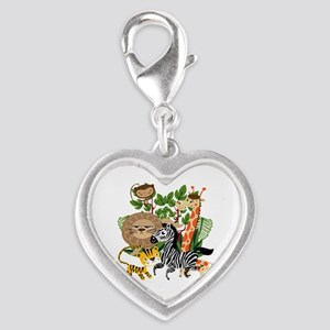 Animal Safari Silver Heart Charm