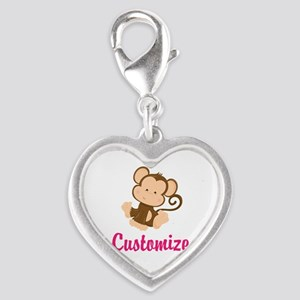 Personalize this adorable baby Silver Heart Charm