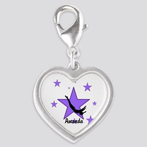 Purple Trampoline Star Charms