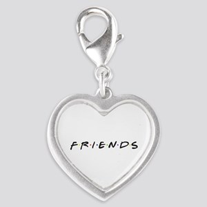 Friends are funny Silver Heart Charm