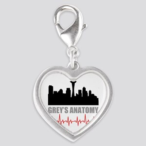 Grey's Anatomy Seatle Silver Heart Charm