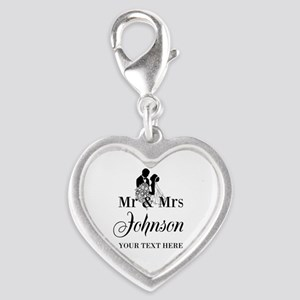Personalized Mr and Mrs Charms