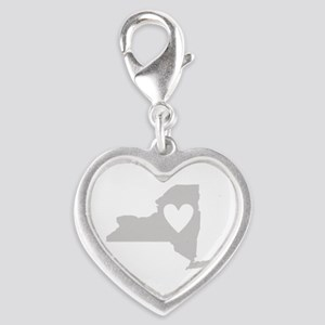 Heart New York Silver Heart Charm