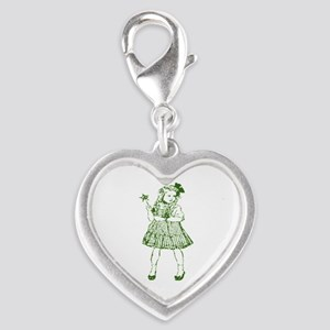 Dorothy of Oz Silver Heart Charm
