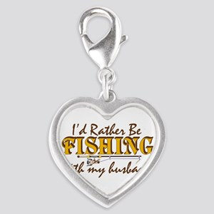 fishinghusband Silver Heart Charm