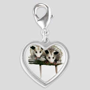 Baby Possums on a Branch Charms