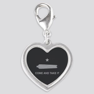 Come And Take It Silver Heart Charm