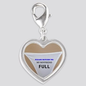 Please return to boyfriend ful Silver Heart Charm