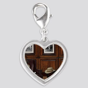 Country Club Silver Heart Charm