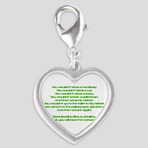 PSA Advert Silver Heart Charm