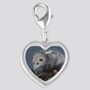 Opossum on a Gnarley Branch Charms