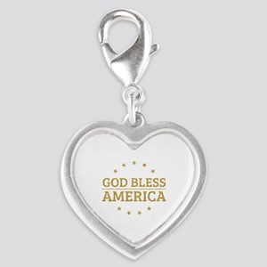 God Bless America Patriot Gift Idea Charms