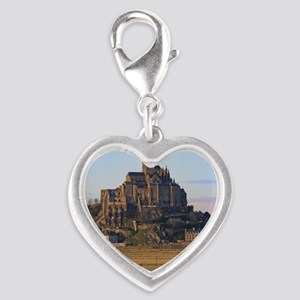 Mont St. Michel Silver Heart Charm