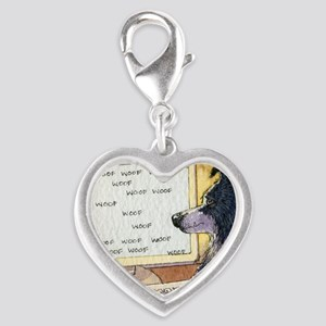 Border Collie dog writer Silver Heart Charm