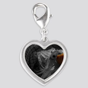 striper fishing copy Silver Heart Charm