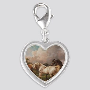 The Meeting of the Horses Silver Heart Charm