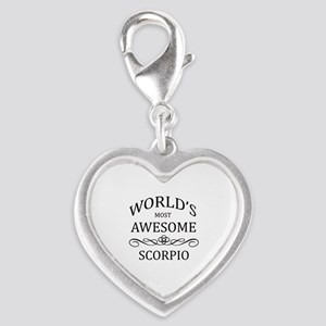 World's Most Awesome Scorpio Silver Heart Charm
