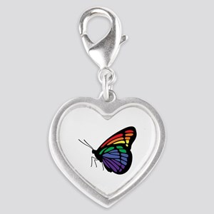 Rainbow Butterfly Gay Pride Charms